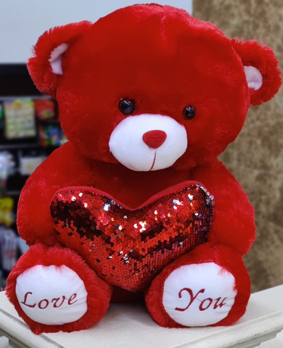 (40cm) Red Teddy With Heart